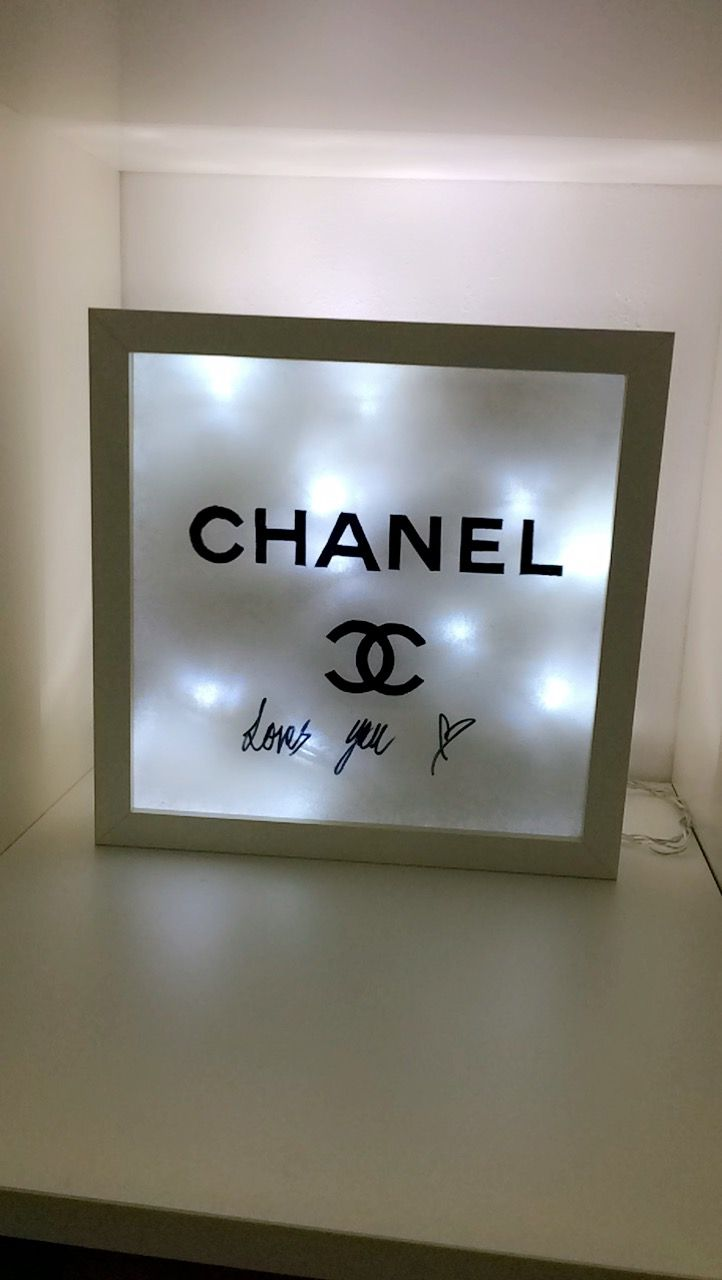 Chanel /Lightbox /diy /Mädchen /Geschenke /Lichterketten/ Ikea ❤✨