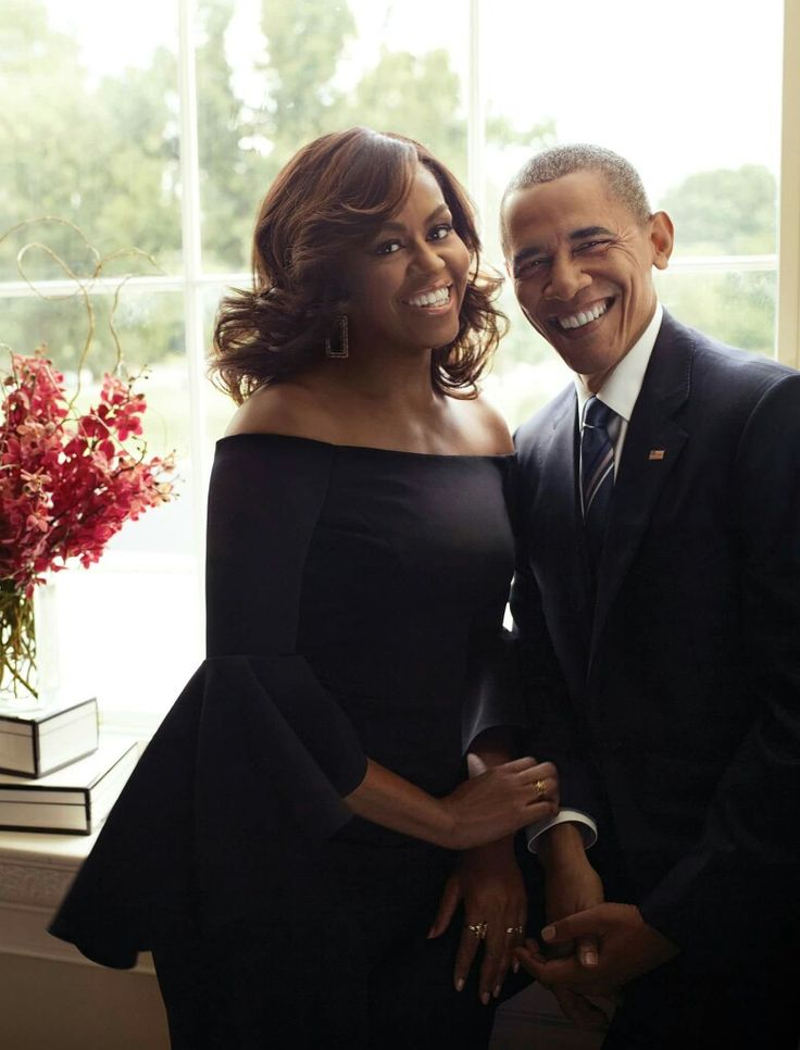 Michelle and Barack Obama in Essence Magazine, 2016