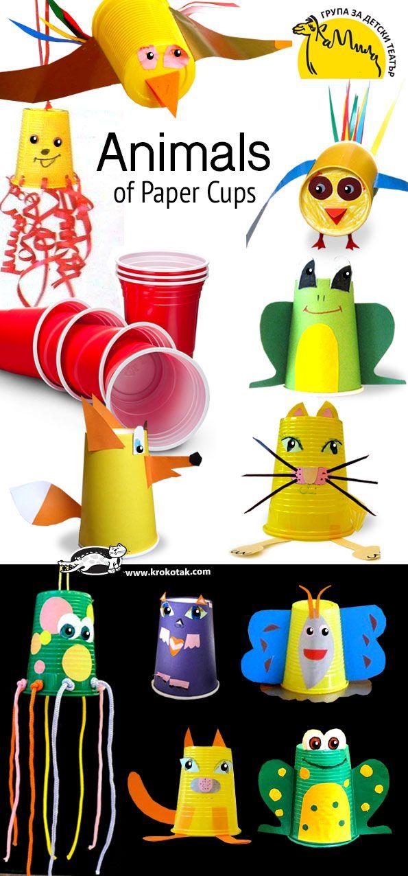 Zvířata papírové kelímky