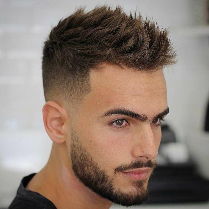 Braune haare mann