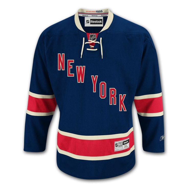 images of the new york rangers hockey logos | New York Rangers 2010-11 Reebok Premier Replica Alternate NHL Hockey ...