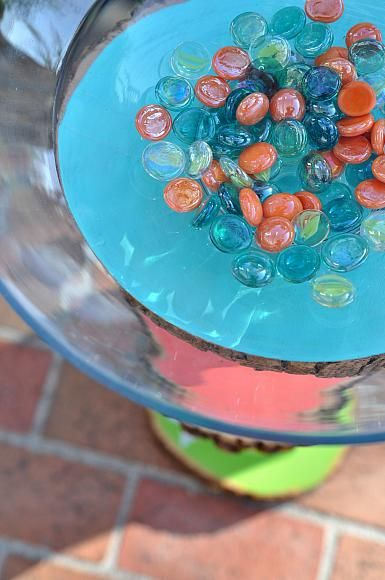 DecoArt Blog - DIY - Homemade Bird Bath