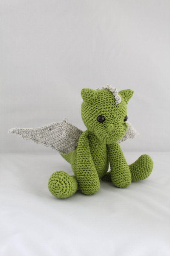 PATTERN: Galahad the Dragon Crochet Amigurumi Pattern   Crocheting ...