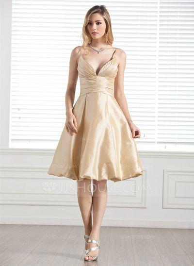 Bridesmaid Dresses - $89.99 - A-Line/Princess Sweetheart Knee-Length Taffeta Bridesmaid Dress With Ruffle (007004169) http://jjshouse.com/A-Line-Princess-Sweetheart-Knee-Length-Taffeta-Bridesmaid-Dress-With-Ruffle-007004169-g4169