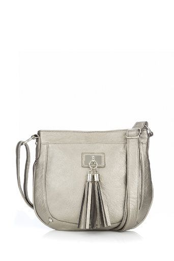 Metallic Tassel Cross Body Bag