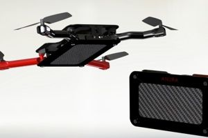The Anura drone is a Kickstarter project for a pocket quadcopter drone. Capable of flying up to 90ft. and for 16mins. between charge. It also features a 340×288 camera.