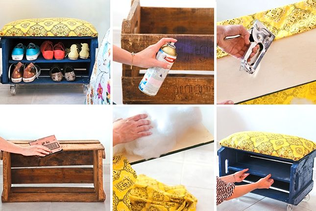30+ Fab Art DIY Wood Crate Up-cycle Ideas and Projects | www.FabArtDIY.com