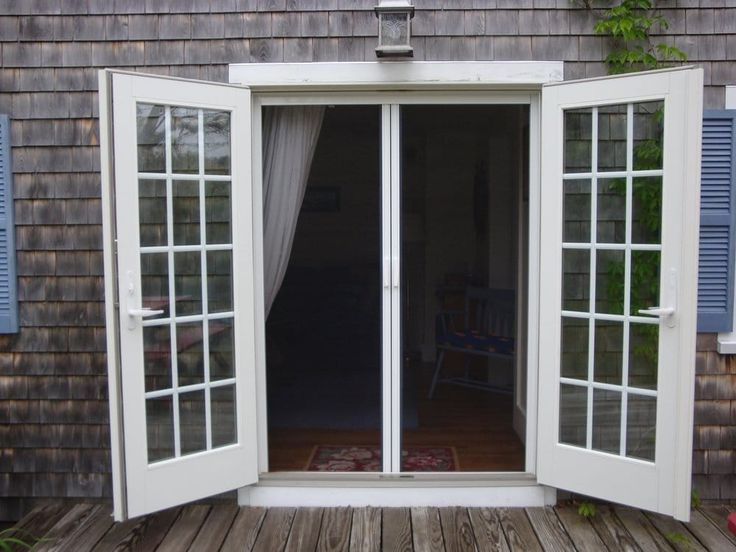25 best ideas about french doors with screens on for Entry door with built in screen