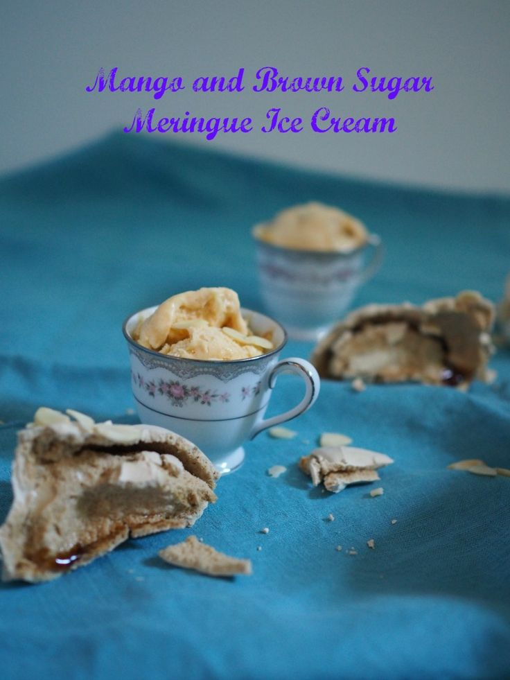 Mango and Brown Sugar Meringue Ice Cream - Champagne and Chips