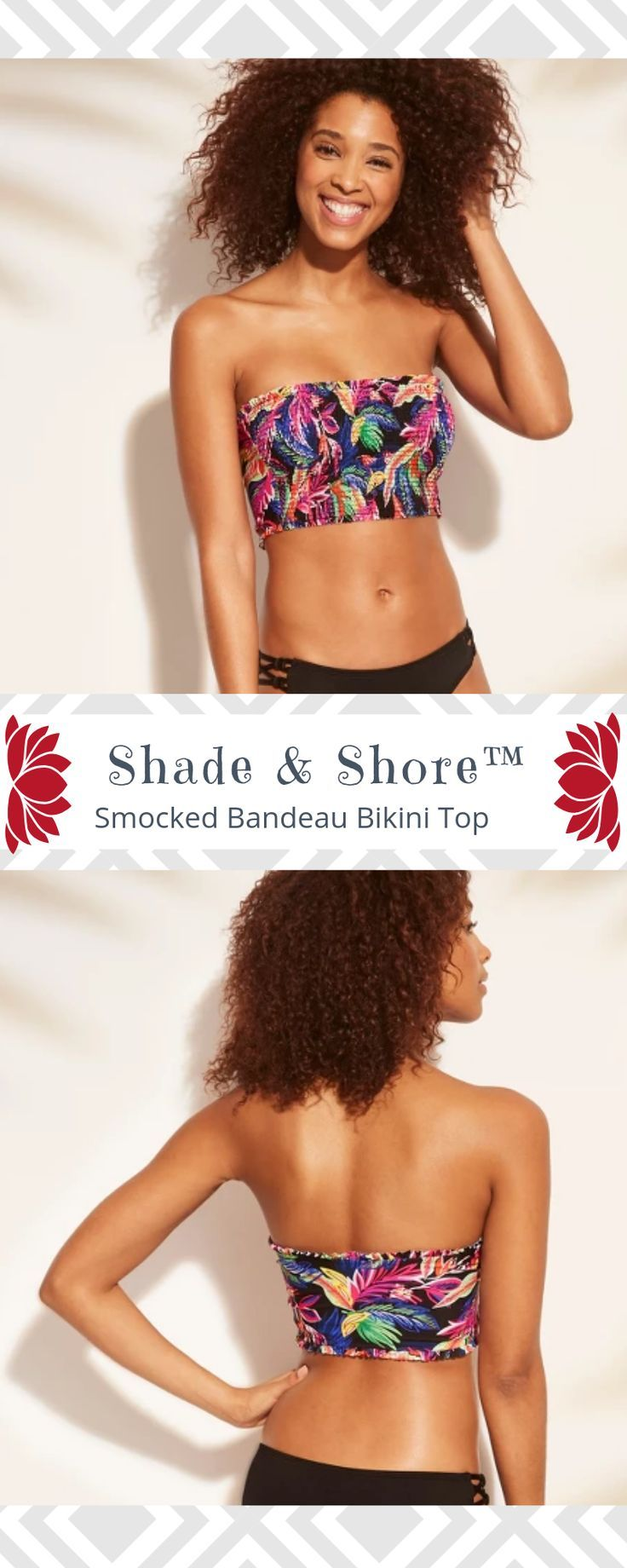 501b30426f7 #target #afflink Get a little tropical flair with the Smocked Bandeau  Bikini Top from
