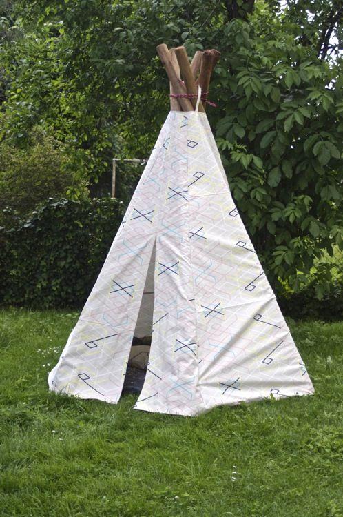 Teepee DIY  ein Zeltbau-Tutorial auf Deutsch Indianerzelt Tippi selbermachen