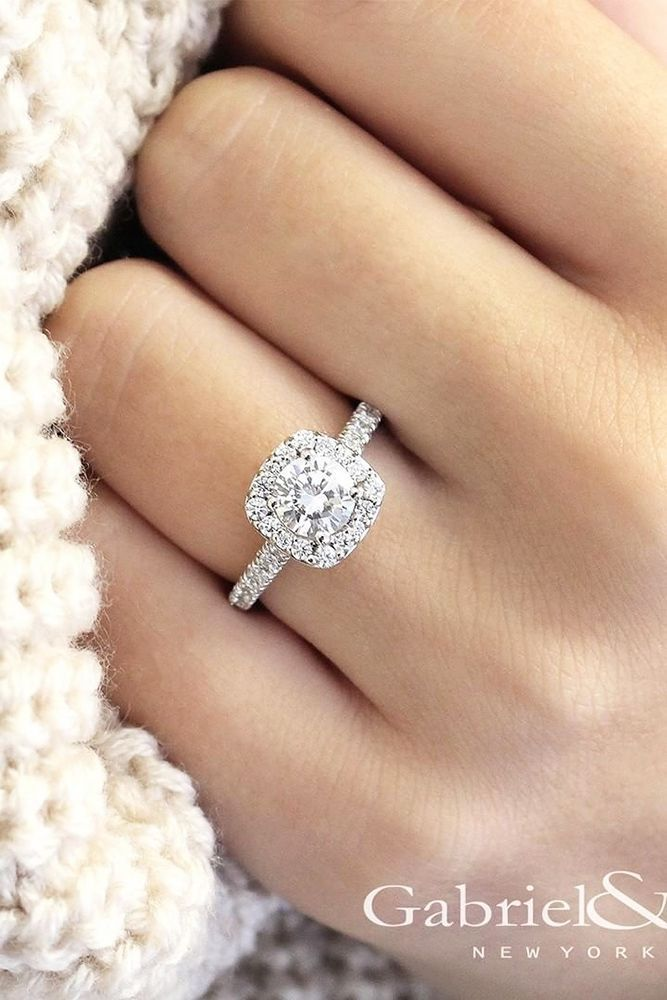 White Gold Engagement Rings That Every Bride Wants ❤️ See more: http://www.weddingforward.com/white-gold-engagement-rings/ #weddings