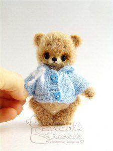 Вязаный миниМишка, автор Елена Голофаева / Вязание игрушек, схемы / Бэйбики. Куклы фото. Одежда для кукол
