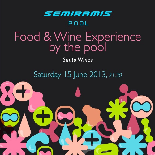 Food & Wine Experience by the pool, Santo Wines! More info: http://www.yeshotels.gr/category/hotels/semiramis/wine/#center #semiramis #pool #Santo #Wines #Food #Experience