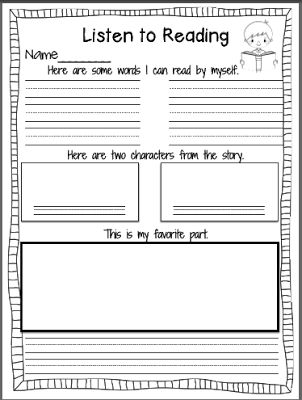Free Listening Response Sheets  (looks perfect for every couple chapters of family read-aloud to make sure it's sinking in!)