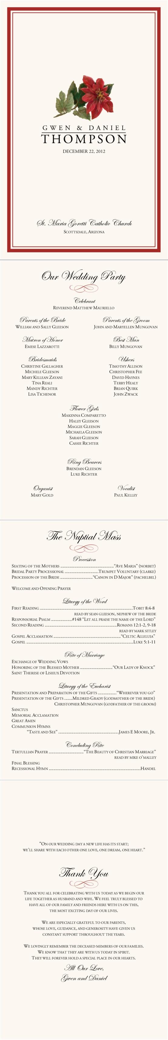 Best 11 best wedding programs images on Pinterest | Catholic wedding  YX26
