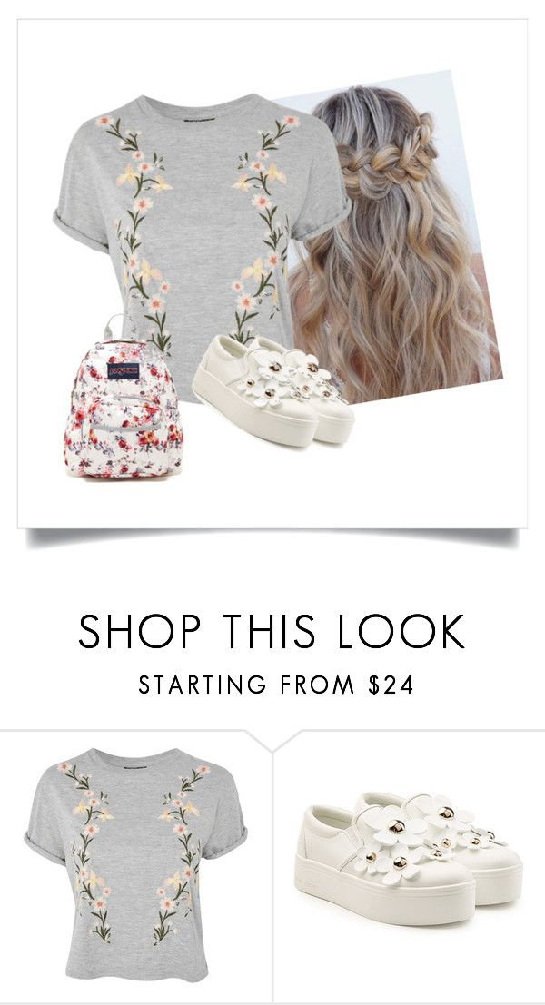"""""""Flowers"""" by rebecioatto on Polyvore featuring moda, Topshop, Marc Jacobs e JanSport"""