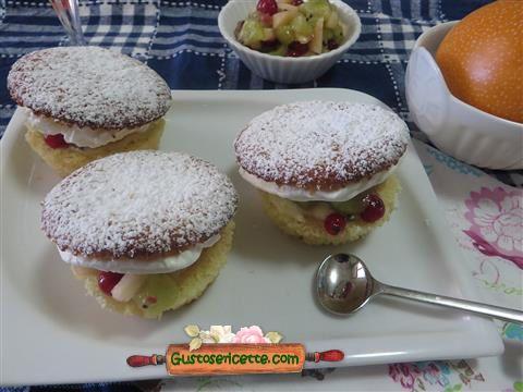 Muffins granadilla champagne frutta fresca - Gustose ricette di cucina