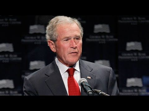 """The Time George Bush Accidentally Told The Truth [about sanctions on Iran: """"Money trumps peace"""". It has been 8 years since then, and here we are again talking about sanctions on Iran and even trying to prevent a deal w/Iran. Republicans and Israel want WAR. BE AWERE: Money is trying to trump PEACE again.]"""