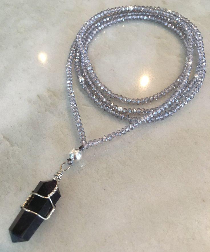 Amethyst Crystal Necklace by TasselsofSilkDesigns on Etsy https://www.etsy.com/ca/listing/496687892/amethyst-crystal-necklace