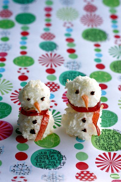 Coconut Macaroon Snowmen | Candy Land | Pinterest