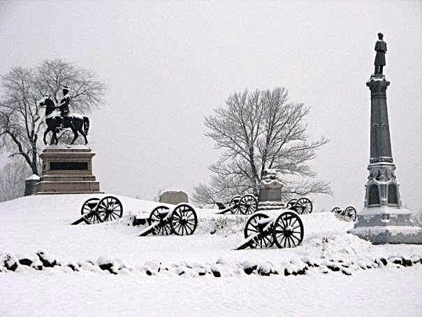 Stephen's Knoll: Cemetery Hill, Gettysburg Pa, Winter, Gettysburg Battlefields, American Civil, Photo, Gettysburg Civil War, National Battlefield