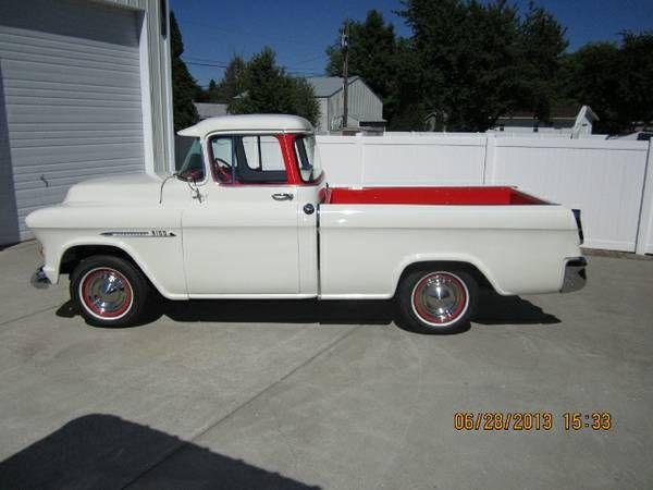 1955 chevy cameo truck steel rollin 39 pinterest. Black Bedroom Furniture Sets. Home Design Ideas