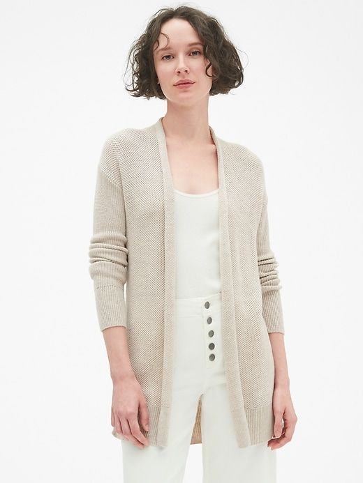 a0a182c0e5 Brooklyn Open-Front Cardigan Sweater in Merino Wool-Blend