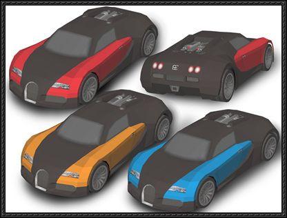 bugatti veyron paper car free vehicle paper model download. Black Bedroom Furniture Sets. Home Design Ideas