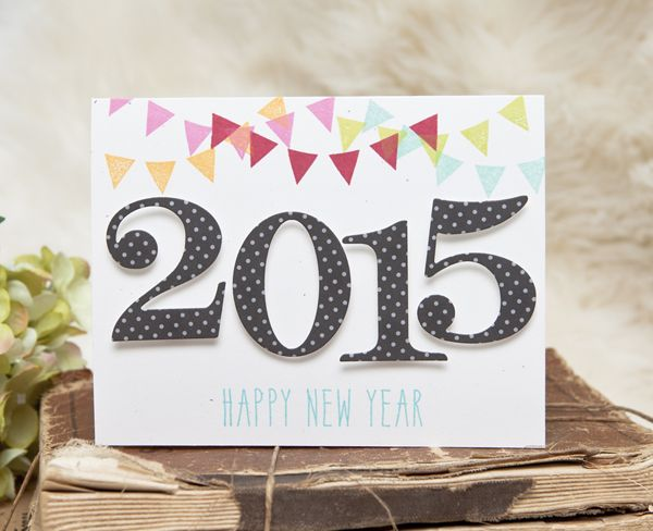 Happy New Year Card by Ashley Cannon Newell for Papertrey Ink (November 2014)