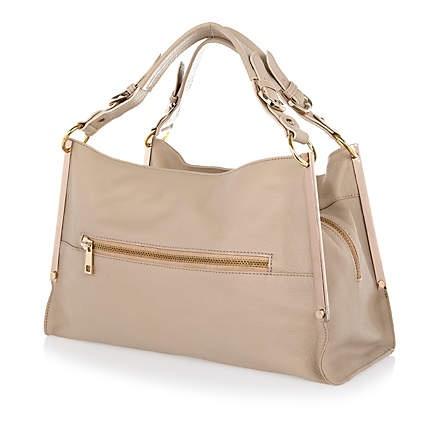 Cream metal edge leather bag £80.00