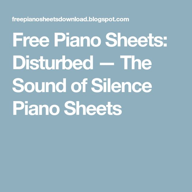 how to play sound of silence on piano