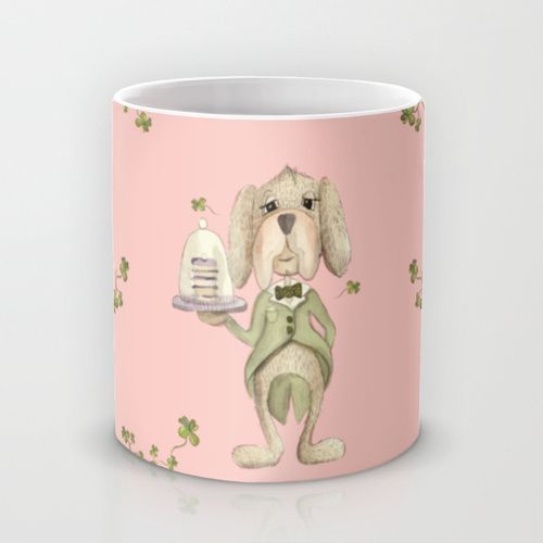 A party without cake is just a meeting! Mug by Vibeke hoie | Society6  #dog #butler #mug #society6