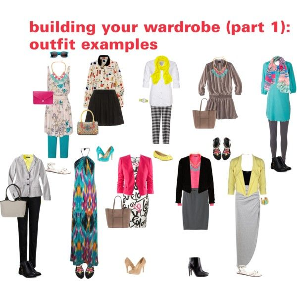 building your wardrobe (part 1): outfit examples   капсулы ...