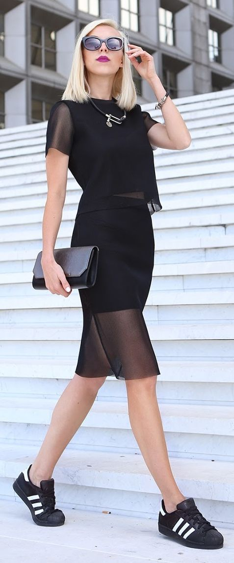 Black Mesh Skirt And Top Set by Meri Wild Blog