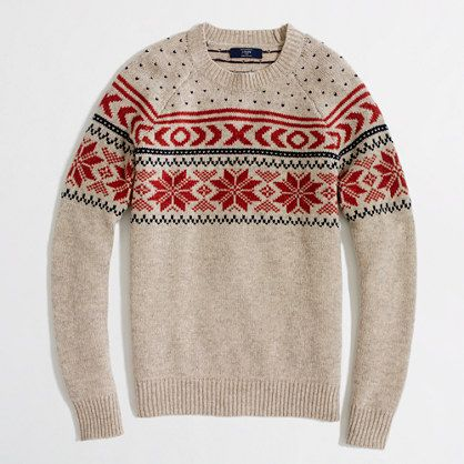 Factory lambswool snowflake Fair Isle sweater