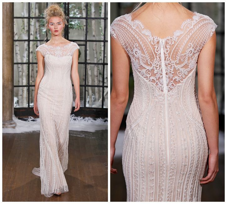 Isabelle Armstrong lace-back wedding dress