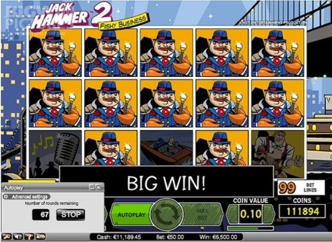 BigWinPictures.com: Big Win on Jack Hammer 2 slot!