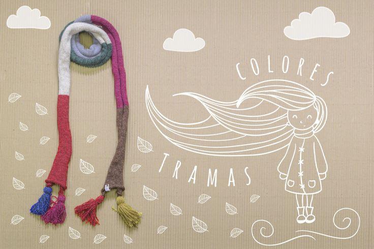 bufanda rayada #maquis #fw16 #bufandatejida #knitt #frío16