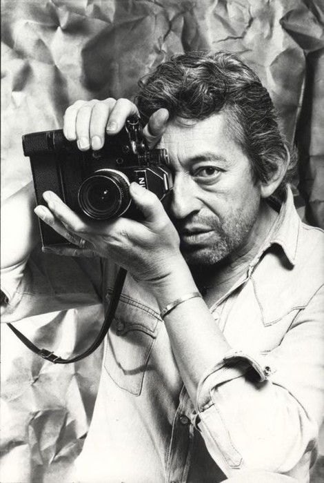 Serge Gainsbourg with a Nikon F2
