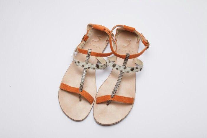 katerina orange ( handmade leather sandal )