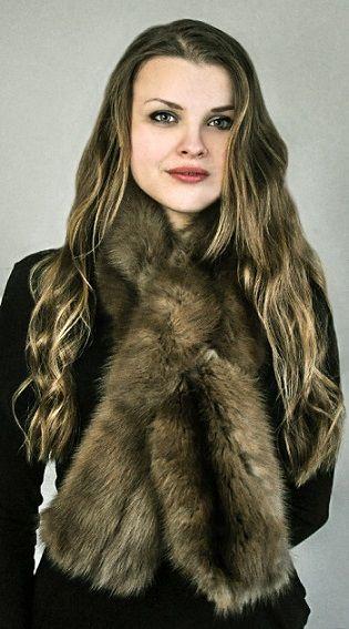 Sciarpa in pelliccia di autentico zibellino   www.amifur.it
