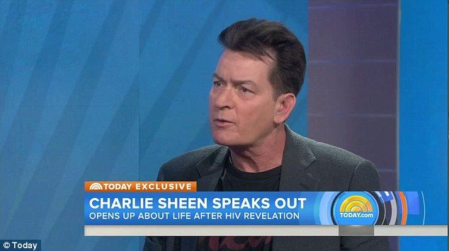 Charlie Sheen said on the Today show Tuesday (pictured) that there were 'two examples' dur...