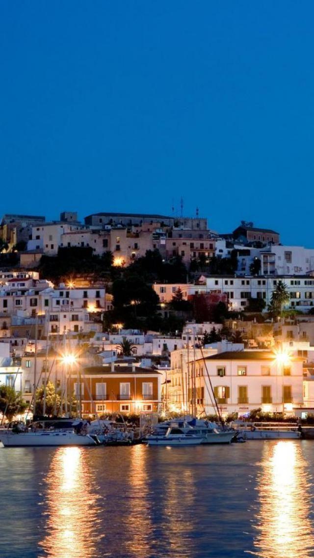 Ibiza Night view, Spain