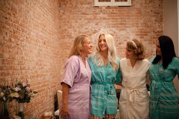 bridesmaid kimono kaftan robes // wedding party ro…