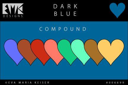 """Eva Maria Keiser Designs: Explore Color: """"Dark Blue"""" - Compound"""