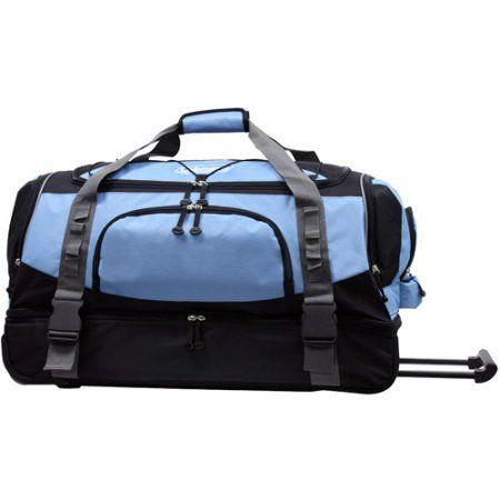Coleman Luggage Tracker 30 Drop Bottom Rolling Duffel Bag Blue Bags Duffel Bag Duffel