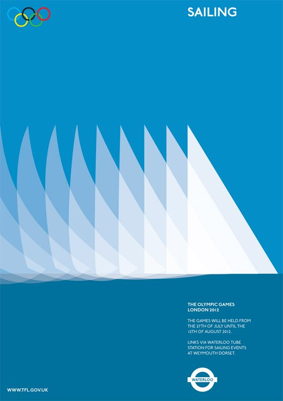Olympics 2012, five unofficial awesome posters by Alan Clarke: Sailing. http://www.alanclarkegraphics.com/
