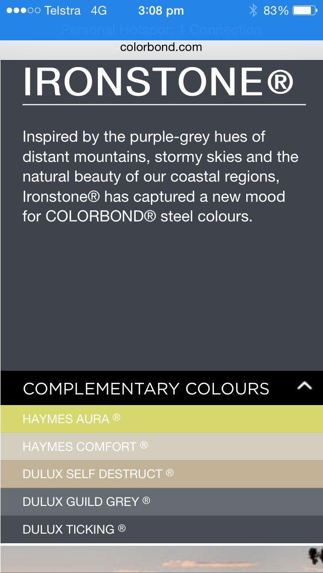 Ironstone colourbond