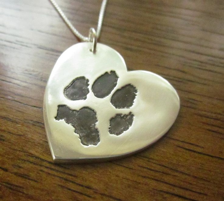 Heart Paw Print Pendant Made from YOUR by CustomSilverPendants, $75.00